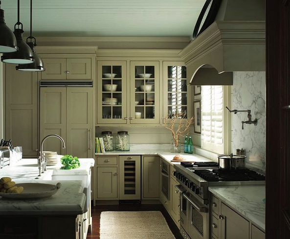Andrea Wachs Interior Design, Benjamin Moore Kitchen Paint